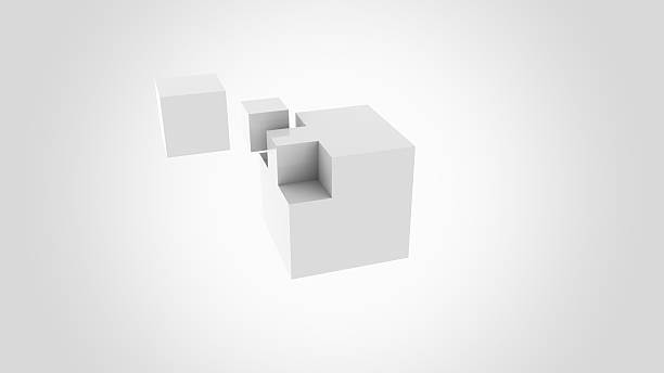 Gray cubes assembling. Construction, installation and building concepts. 3D rendering Gray cubes assembling. Assembly and building concepts append stock pictures, royalty-free photos & images