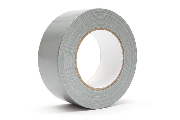 Gray Duct Tape stock photo