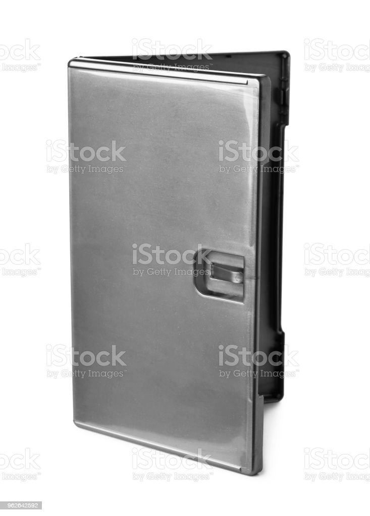 Gray DVD box cover stock photo