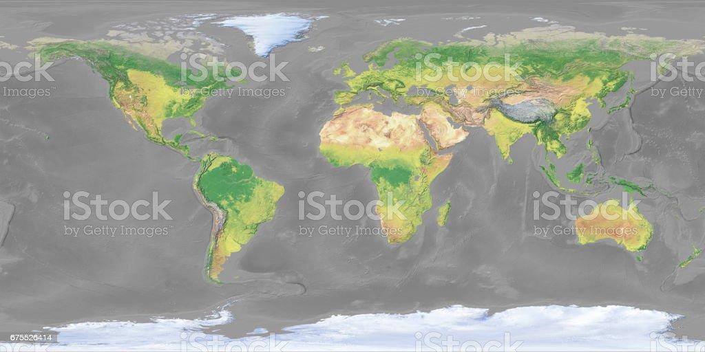 Gray Earth Topographic Map Stock Photo IStock - Earth topographic map