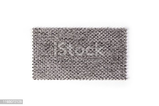 Gray Fabric swatch isolated on white