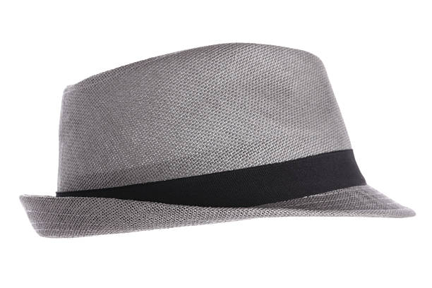 Gray Fedora Hat stock photo