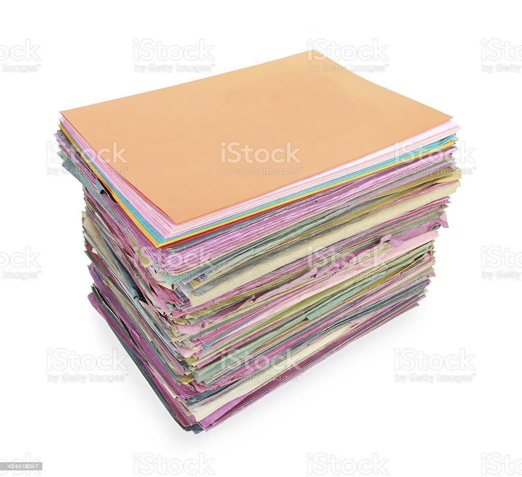 Gray folder isolated royalty-free stock photo