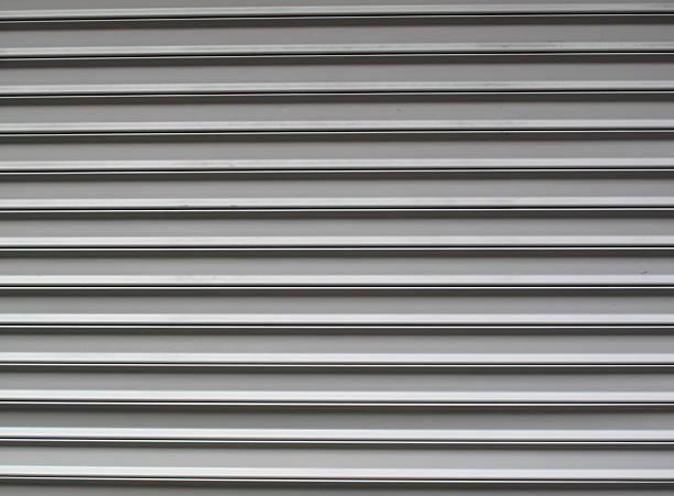 Gray garage door stok fotoğrafı