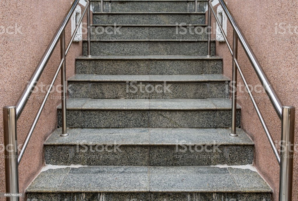 Grijze granieten trap royalty free stockfoto
