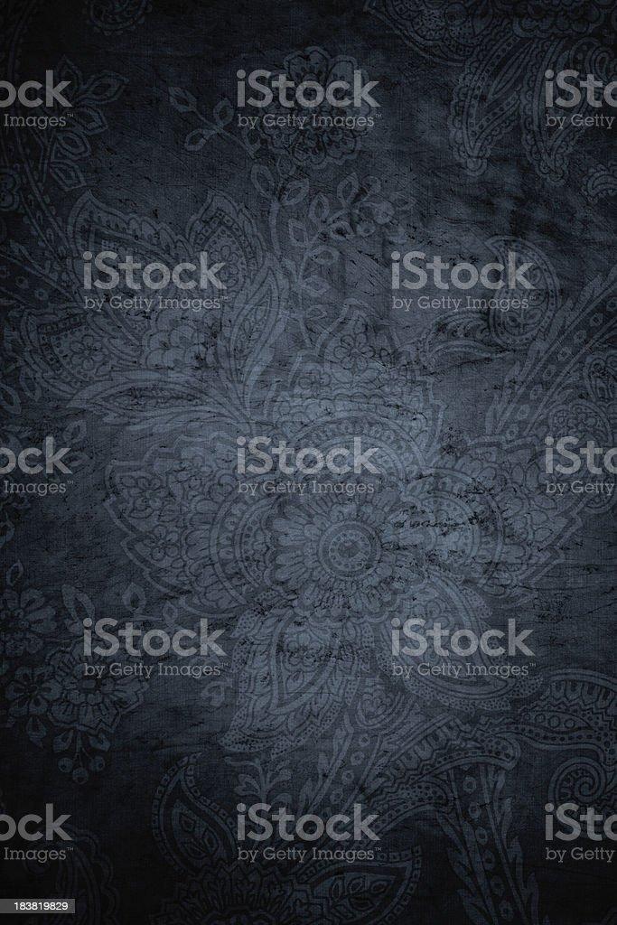 Gray Grunge Paisley Background stock photo