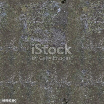 istock Gray grunge wall background or seamless texture. 885983390