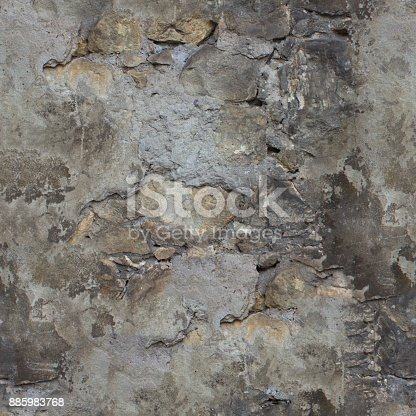 istock Gray grunge wall background or seamless texture. 885983768