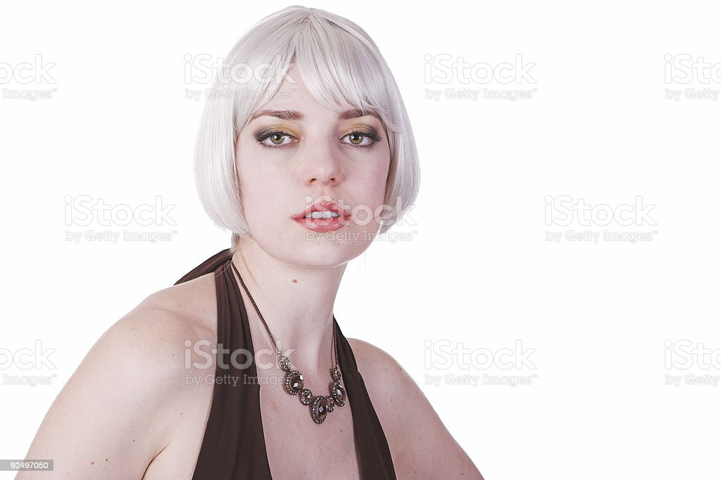 Gray haired royalty-free stock photo