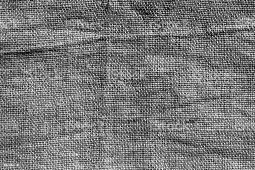 Gray hessian sack cloth texture. stock photo