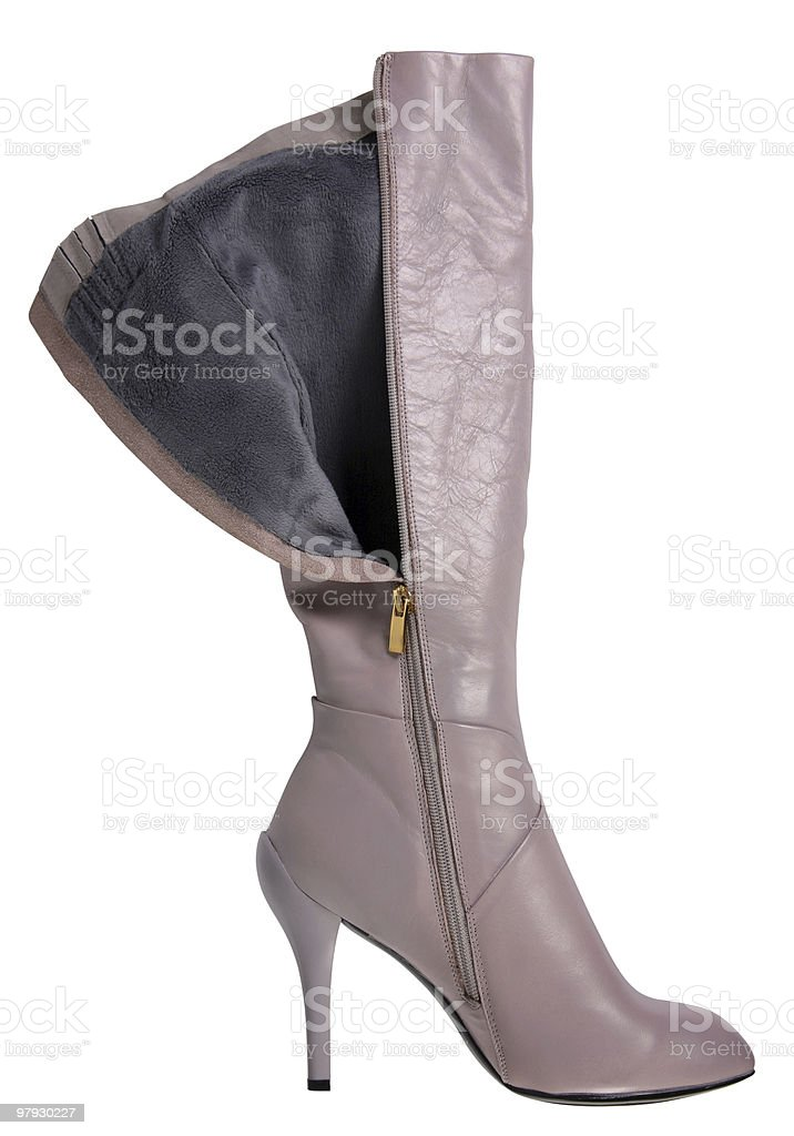 Gray high shoes royalty-free stock photo