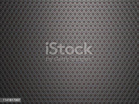 165853308istockphoto Gray honeycomb, hexagon 1141617007