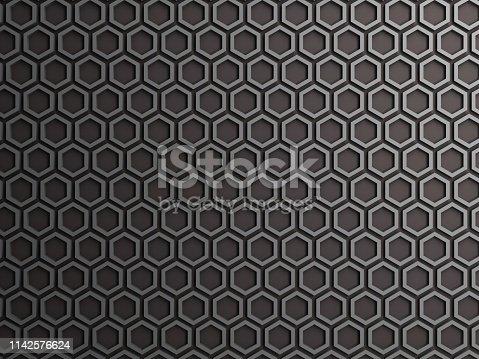 165853308istockphoto Gray honeycomb, hexagon 1142576624