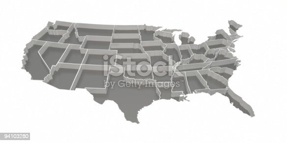 520945644 istock photo Gray Inverted United States Map 94103280
