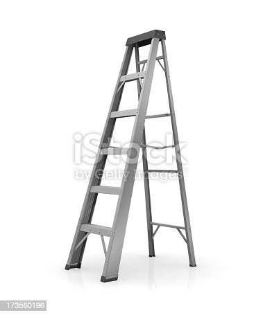 Step ladder in a white environment.