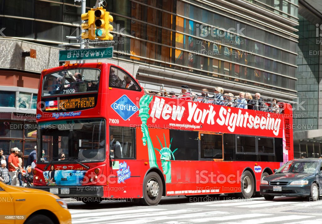 Gray Line New York City Tour Bus stock photo