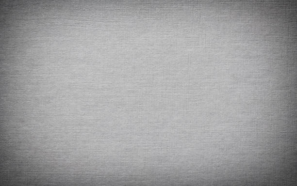 Gray linen book cover background with vignette stock photo