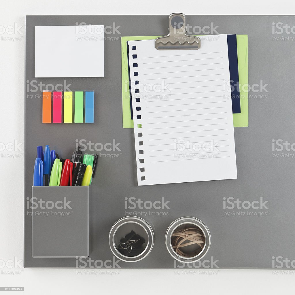 Gray Magnetic Board stock photo