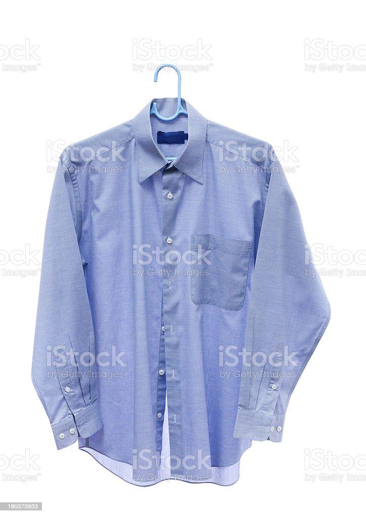 Gray men shirt on hanger royalty-free stock photo