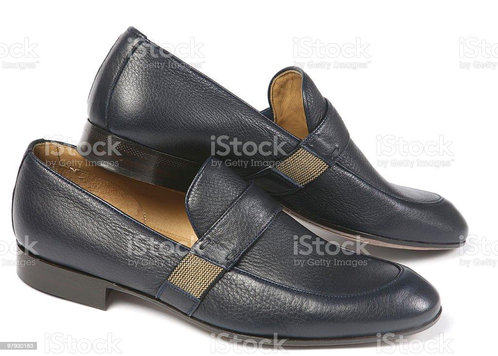 Gray men shoes royalty-free stock photo