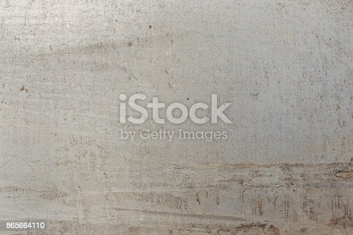 istock Gray metal plate, clean metal plate 865664110