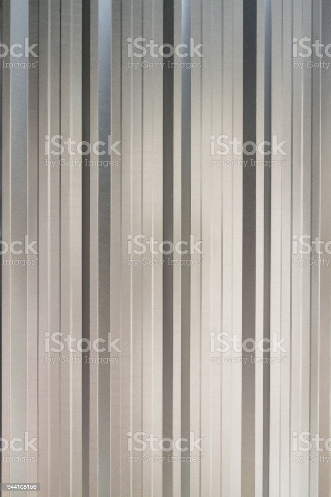 Gray Metal sheets Roof texture. stock photo