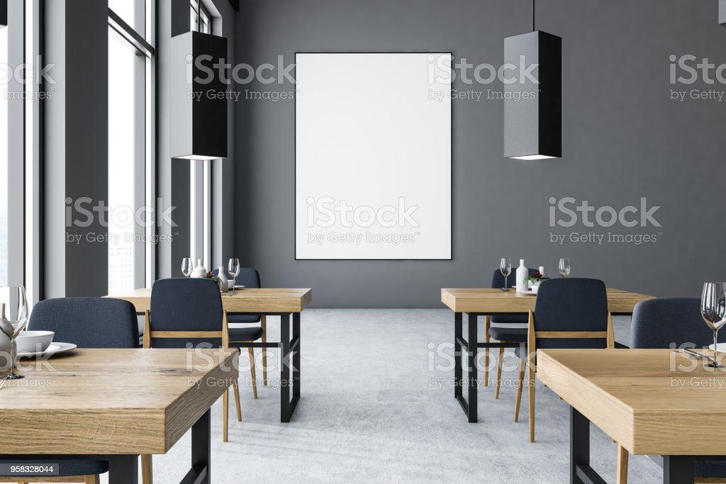 1d7302a6ef96 Moderno gris barra interior, cartel foto de stock libre de derechos