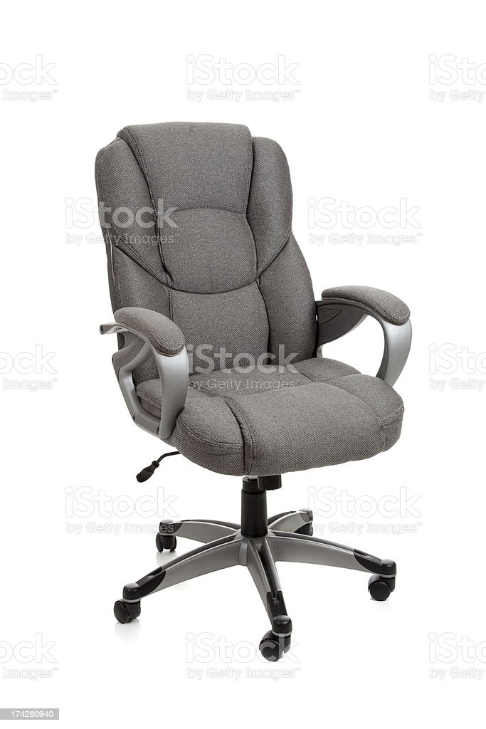 Gray office chair on white royalty-free stock photo