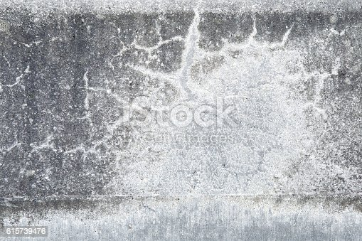 istock Gray, old stony asphalt texture background. Stairs with strange formations. 615739476