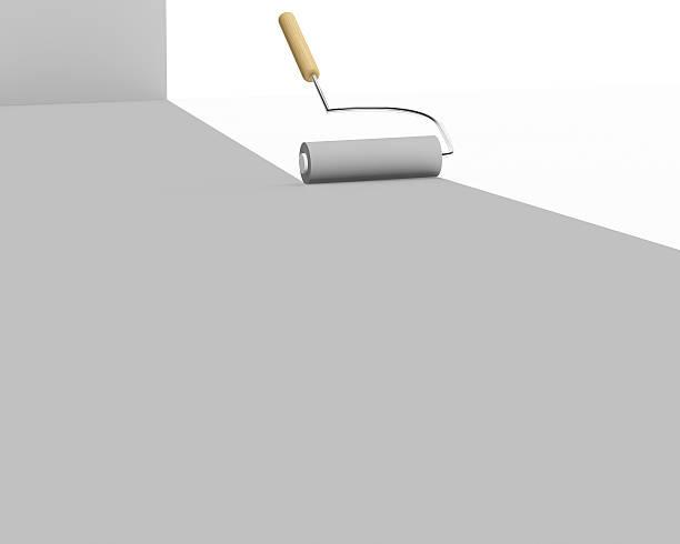 3D Gray Paint roller stock photo