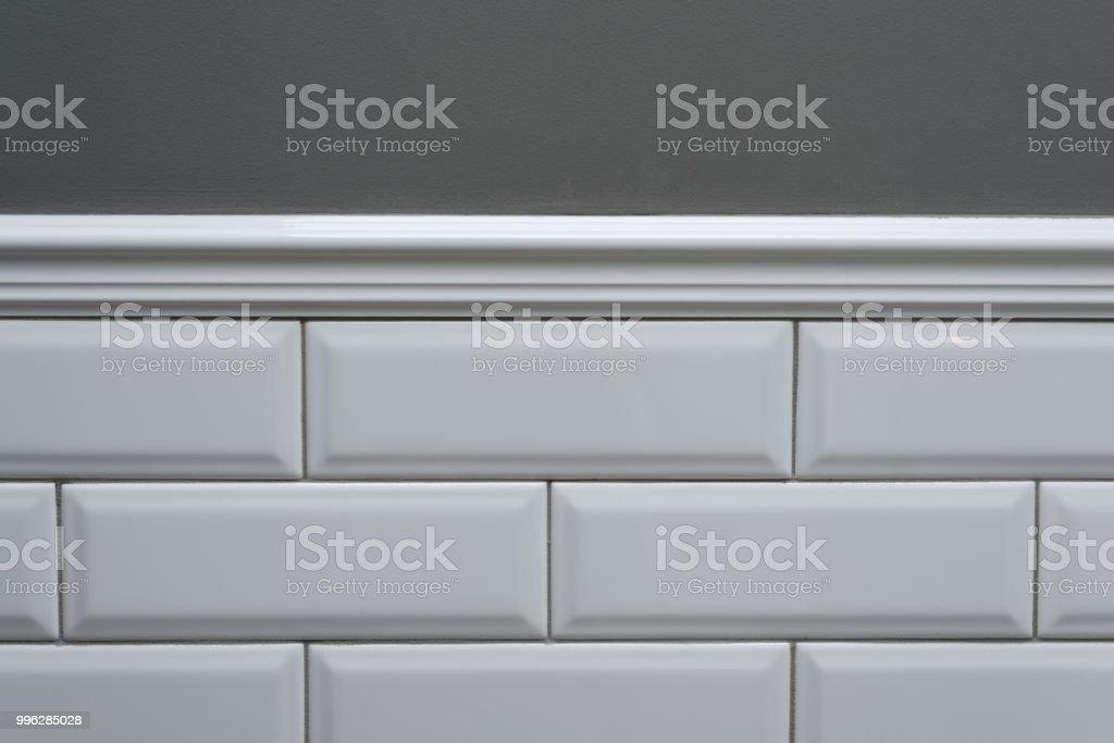 Grau Lackiert Wand An Der Wand Bedeckt Kleine Weiße ...