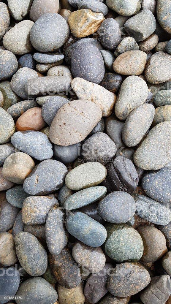 Gray Pebbles Landscape Rocks Stock Photo - Download Image