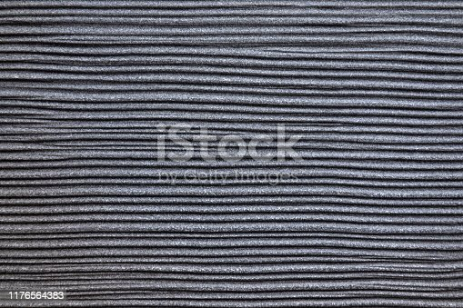 istock Gray plastic surface with horizontal texture 1176564383