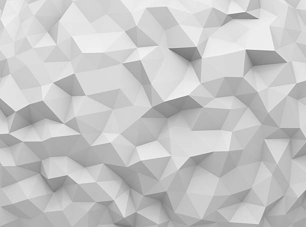 gray polygonal background - triangle shape stock photos and pictures