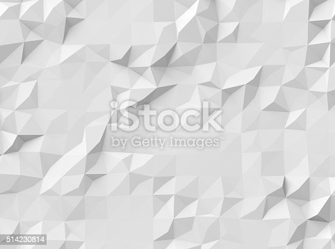 istock Gray polygonal background 514230814