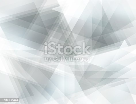istock Gray polygonal background 696063444