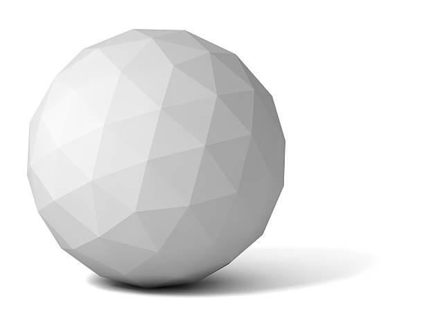 gray polyhedron - veelvlakkig stockfoto's en -beelden