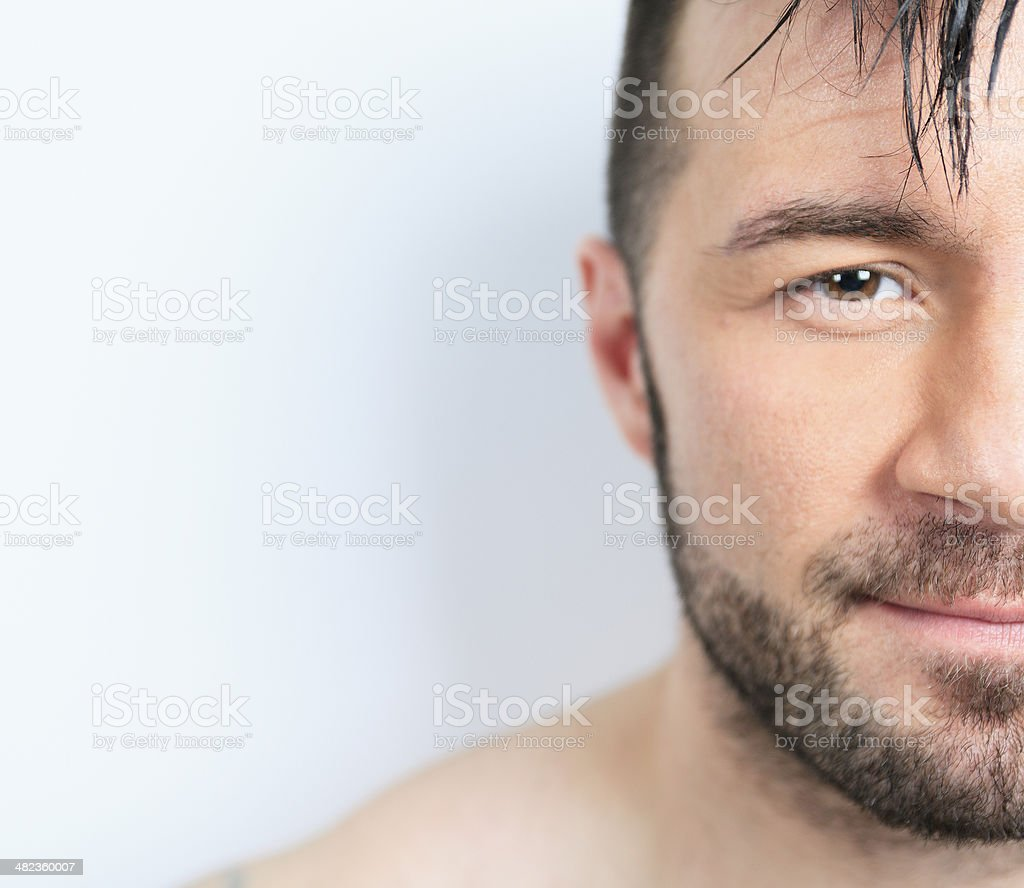Gray Portrait Men royalty-free stock photo