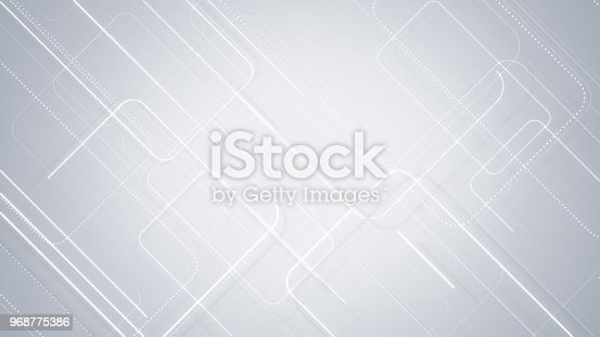 istock Gray rectangular lines abstract background 968775386