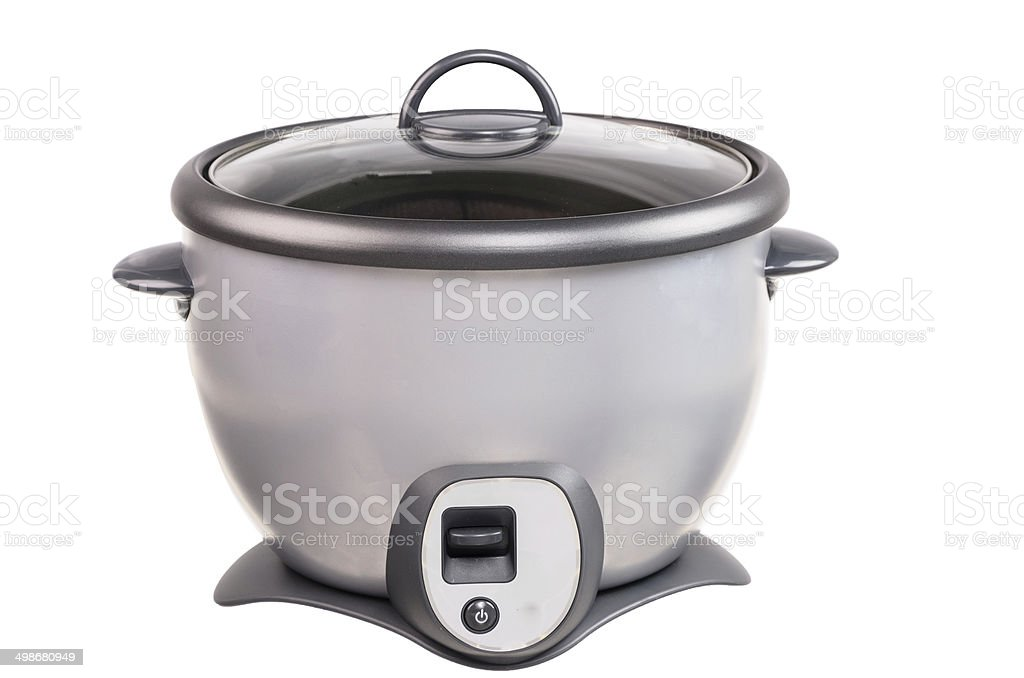 Gray Rice Cooker isolated Background stock photo