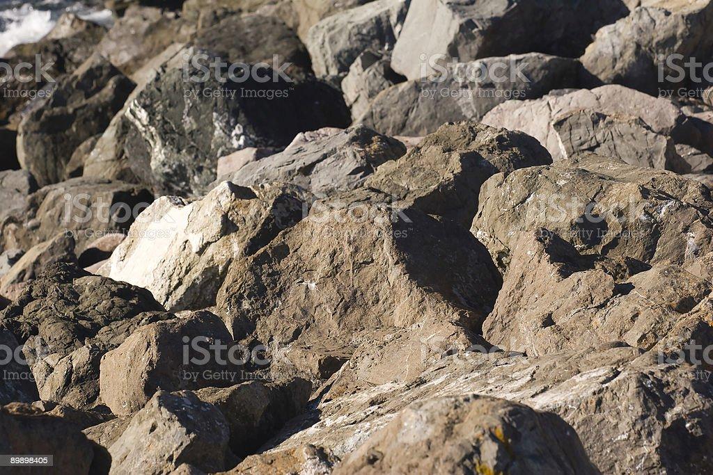 Gray Rocks royalty-free stock photo