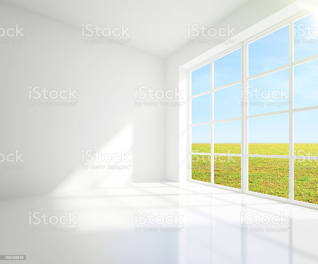 gray room  and field royalty-free stock photo
