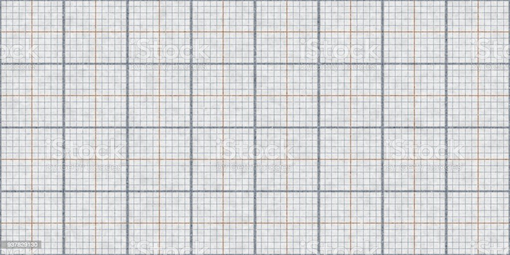 Gray Seamless Millimeter Paper Background. Tiling Graph Grid Texture. Empty Lined Pattern. – zdjęcie