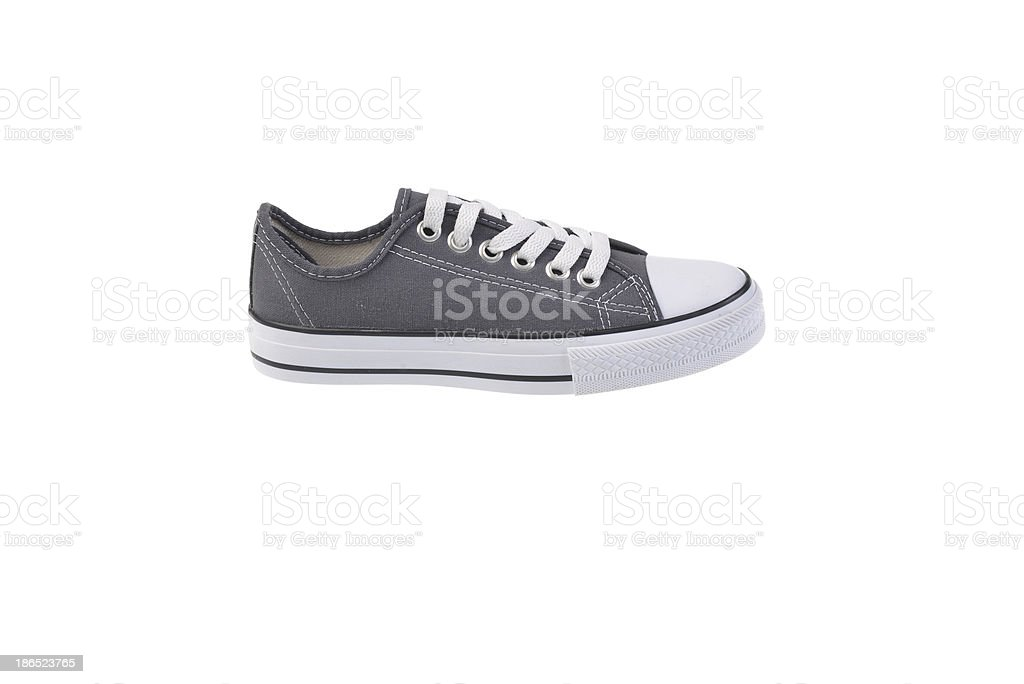 Gray Sneaker Shoe with clipped royalty-free stock photo
