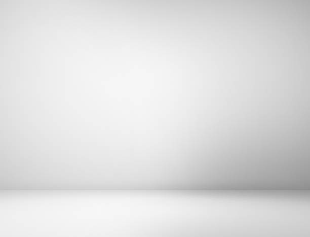Gray spotlight background stock photo