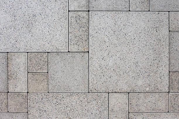 グレイのスクエアブリック - 歩道 ストックフォトと画像