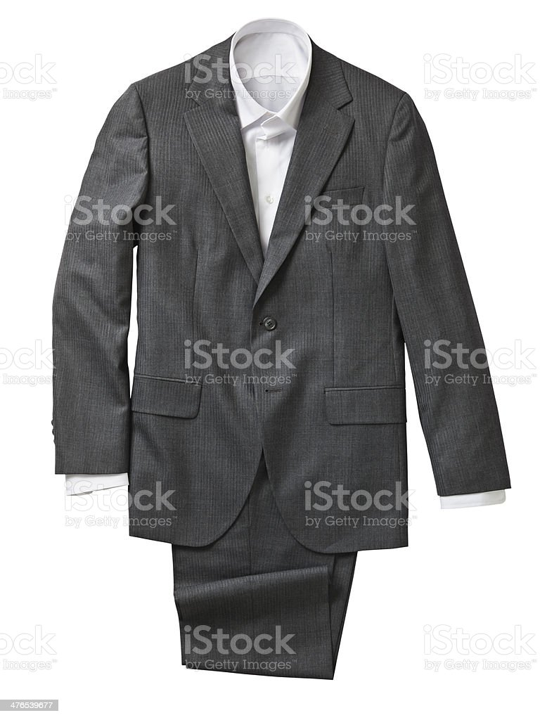 Gray suit royalty-free stock photo