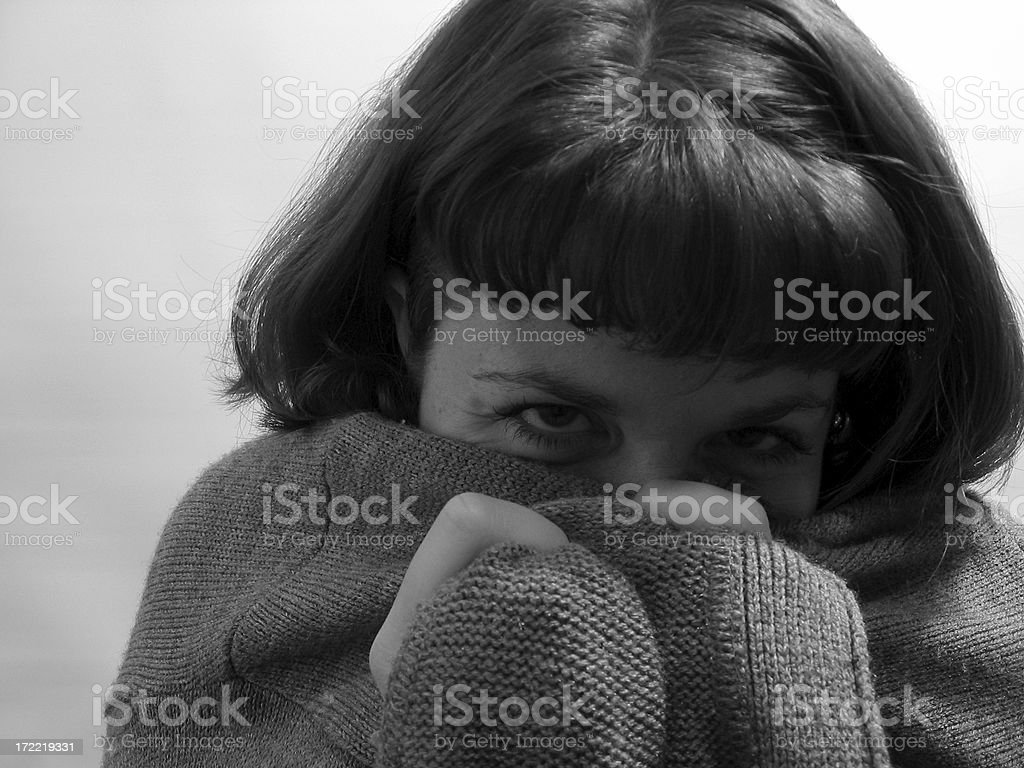 gray sweater emotion royalty-free stock photo