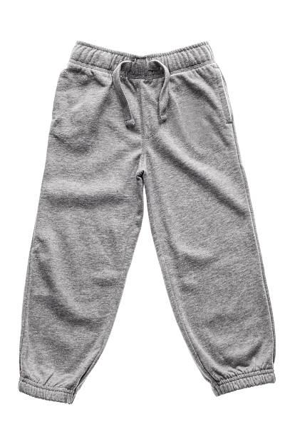 sweathosen isoliert grau - sweatpants stock-fotos und bilder
