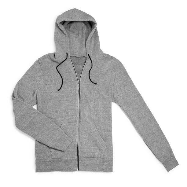 gray sweatshirt - sweatshirt stock photos and pictures